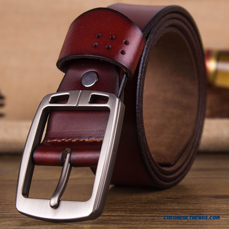 Cheap Middle aged Men's Business Casual Belts Hot Sale