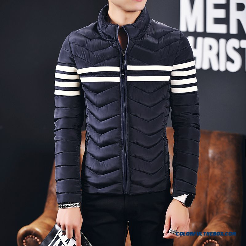 Cheap New Arrival Winter Men Coats Stand Collar Black Slim Down