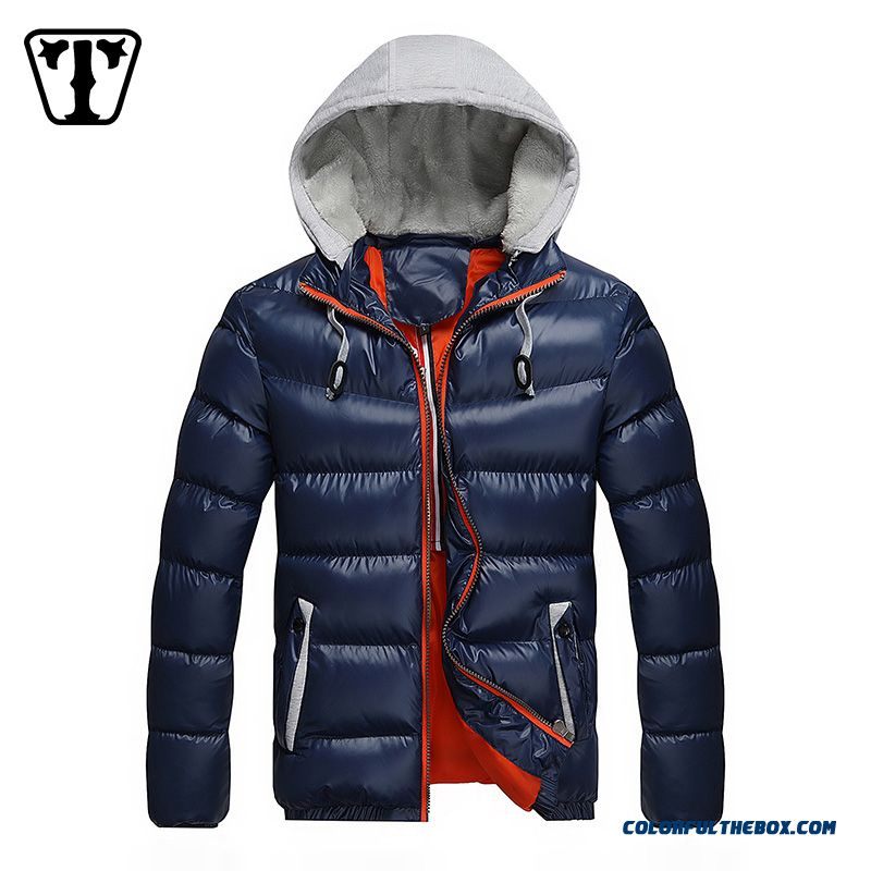 New Autumn Winter Hot Selling Tide Thicken Blue Red Black Large Size Coats Young