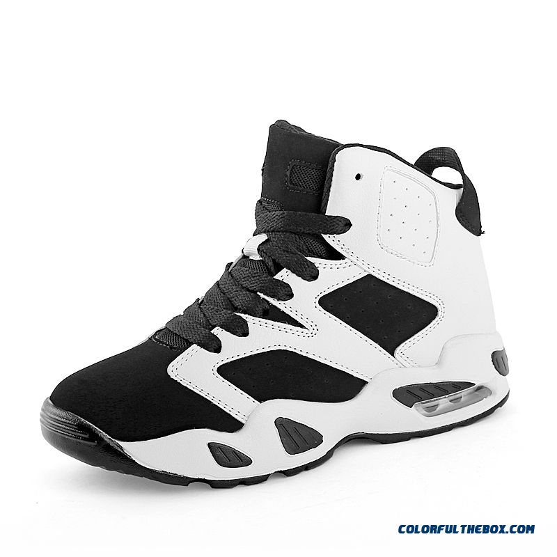 New Black And White Classic Fashion Basketball Shoes Air Cushion Couples Shoes