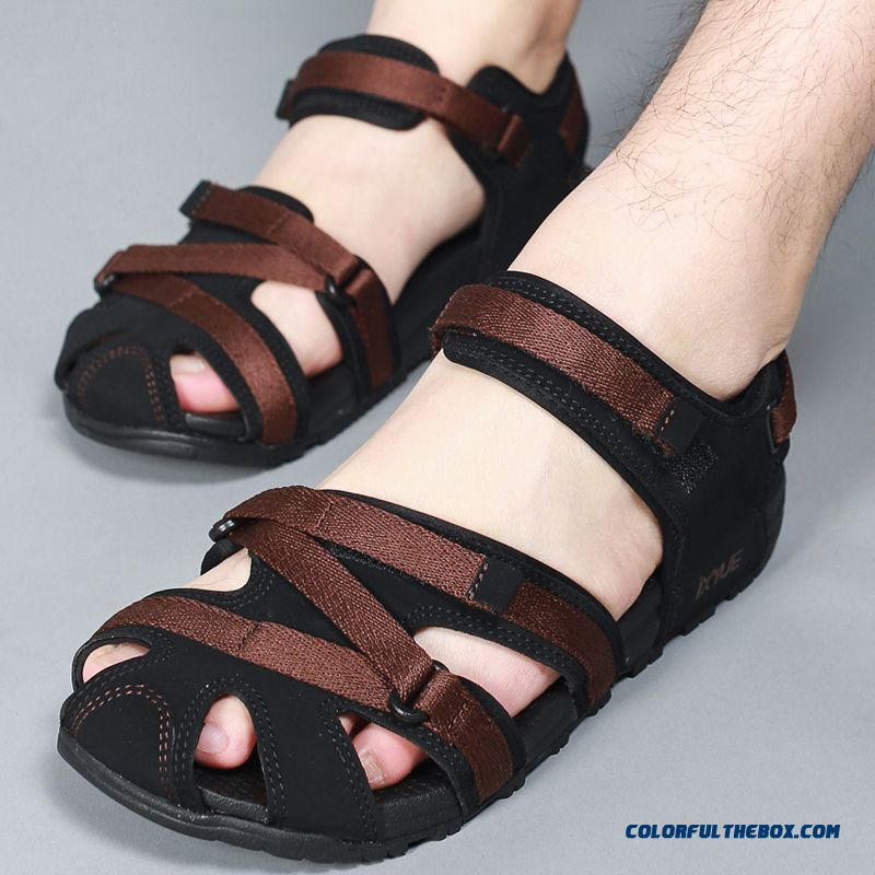 Cheap New Breathable Summer Leather Sandals Men Couple