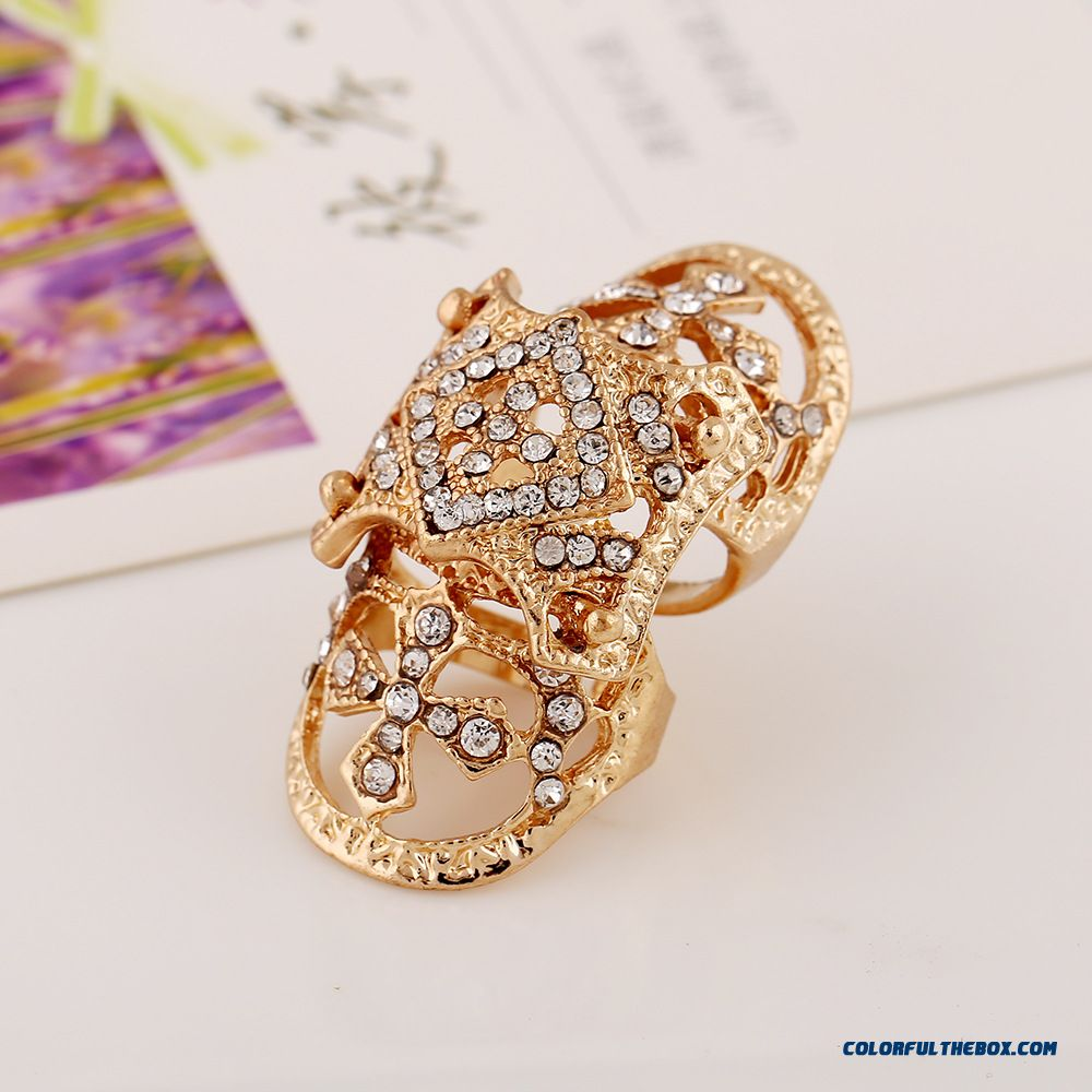 New Designed For Women Diamond Jewelry New Armor Cross Joints Rings