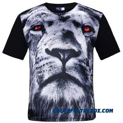 New Fashion Men's Hip Hop Crown Lion Print T Shirt Mens 3d Compression T-shirt Swag Yeezy Tshirt Homme Brand Clothing For Men