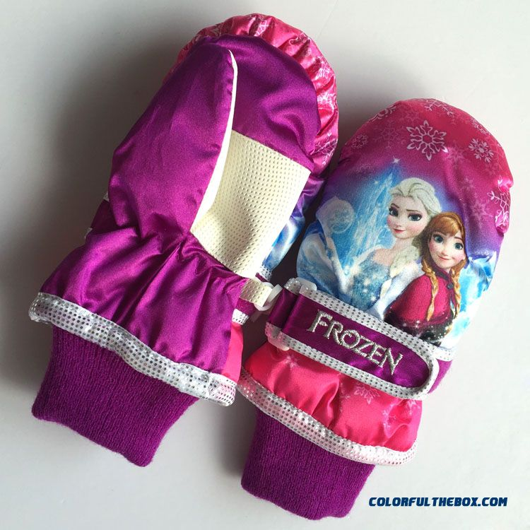 Cheap New Frozen Kids Girls Thick Warm Winter Ski Gloves
