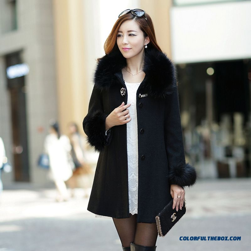Cheap New Korean Wool Coat Nagymaros Collar Fashion Design For ...