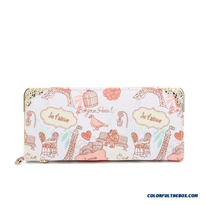 New Version Zipper Printed Clutch Women's Wallet Long Tide Free Shipping