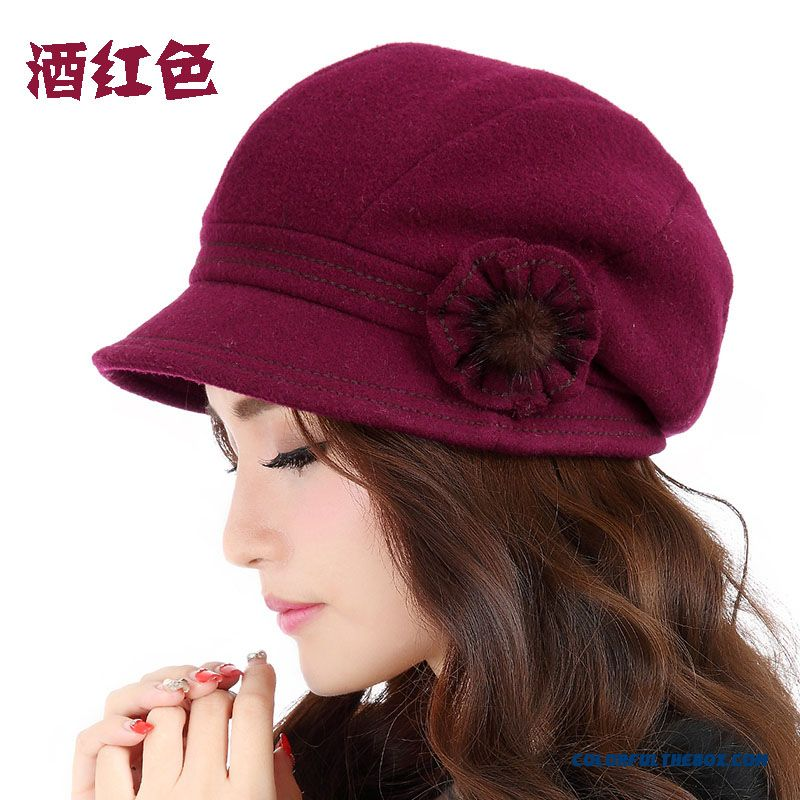 Cheap New Women Thick Warm Wool Winter Hat Fashion Casual