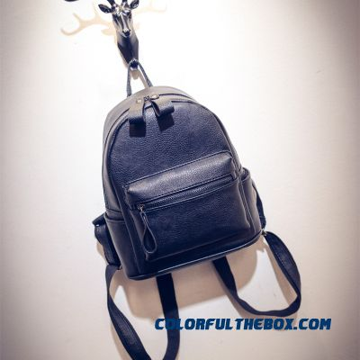 23a876e2fe0f ... Pu Simplicity College Style New Casual Mini Backpack Women Bags ...