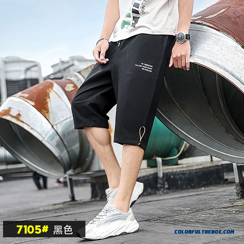 Short Pants Camouflage Tooling Summer Skinny 2019 Leisure Trend Men's New Black Loose