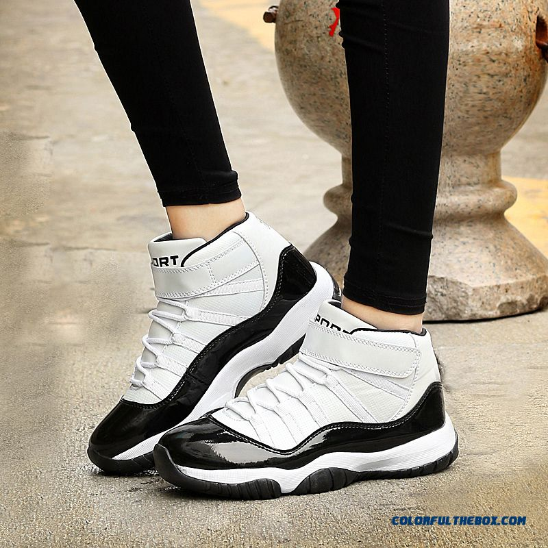 Simple Fashion Thick Bottom Antiskid Couple Shoes Men Basketball Shoes