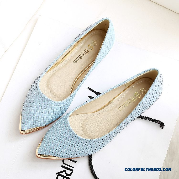 Cheap Simple Sweet Little Size White Pointed Women Flat Shoes Sale ... 4902233b1