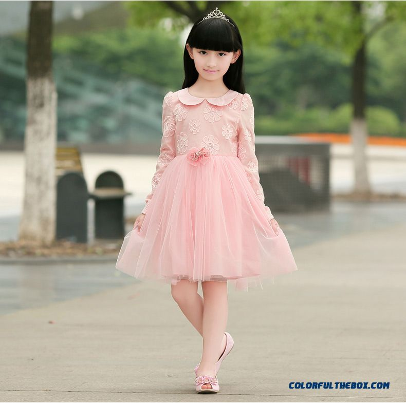 d81fb51fe10 Solid Color Summer Cute Girls Dress Special Offer Kids Clothing ...