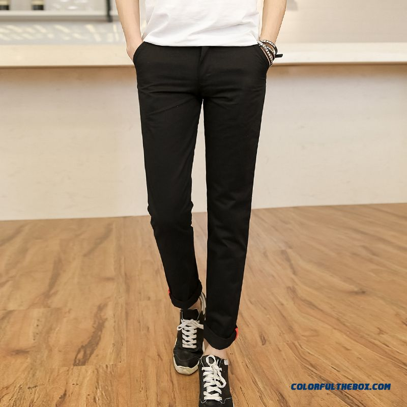 Special Clearance Autumn New Cotton Casual Straight Long Slim Men Pants