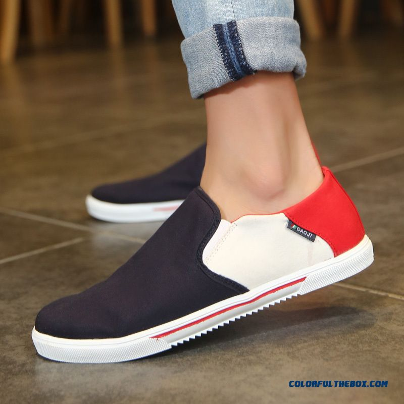 Cheap Spring Summer Autumn Canvas Shoes Men Low Cut Flats ...