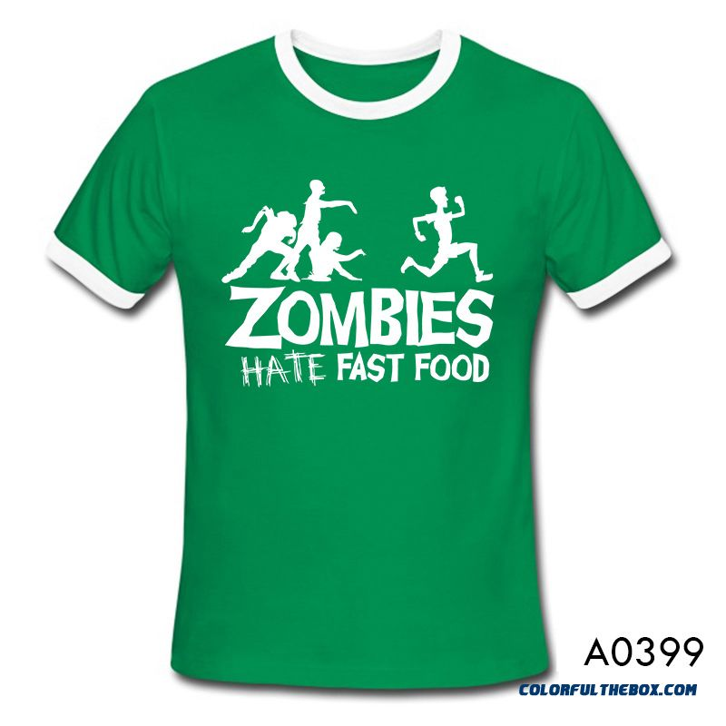 Cheap Summer Men T Shirts Zombies Funny Slogan Top Tees
