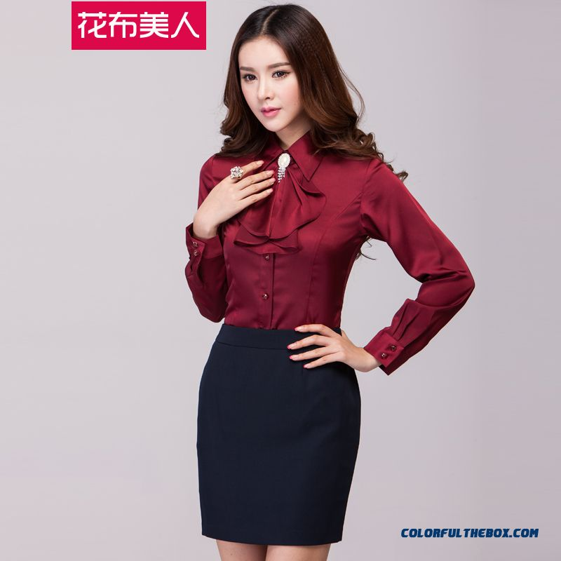 The Finest Quality Elegent Slim Long-sleeved Women's Shirt Hot Selling