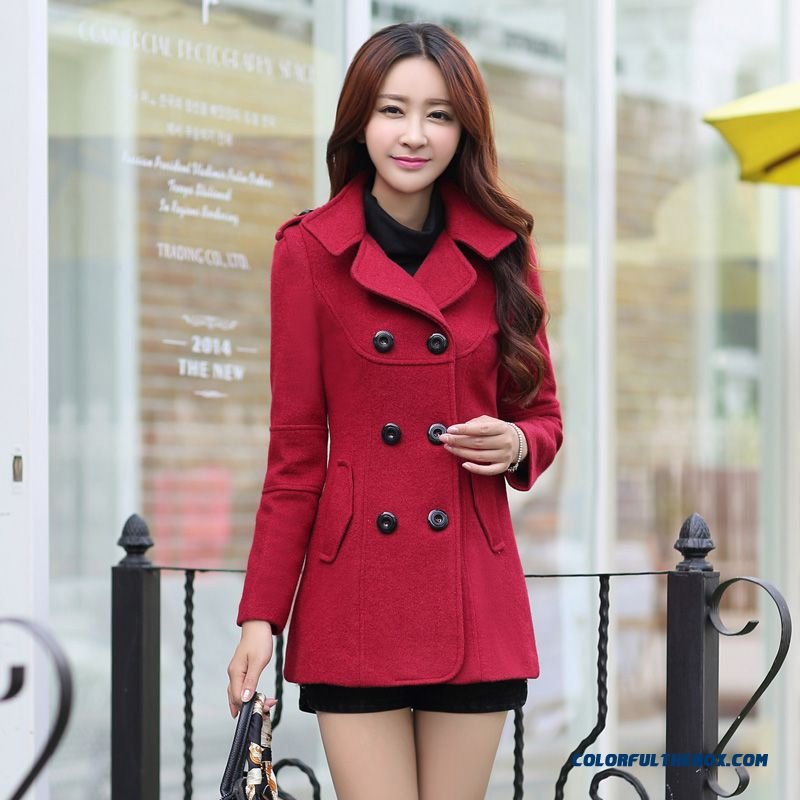 Cheap The Latest Fashion Spring Women Short Woolen Coats Thicken ...