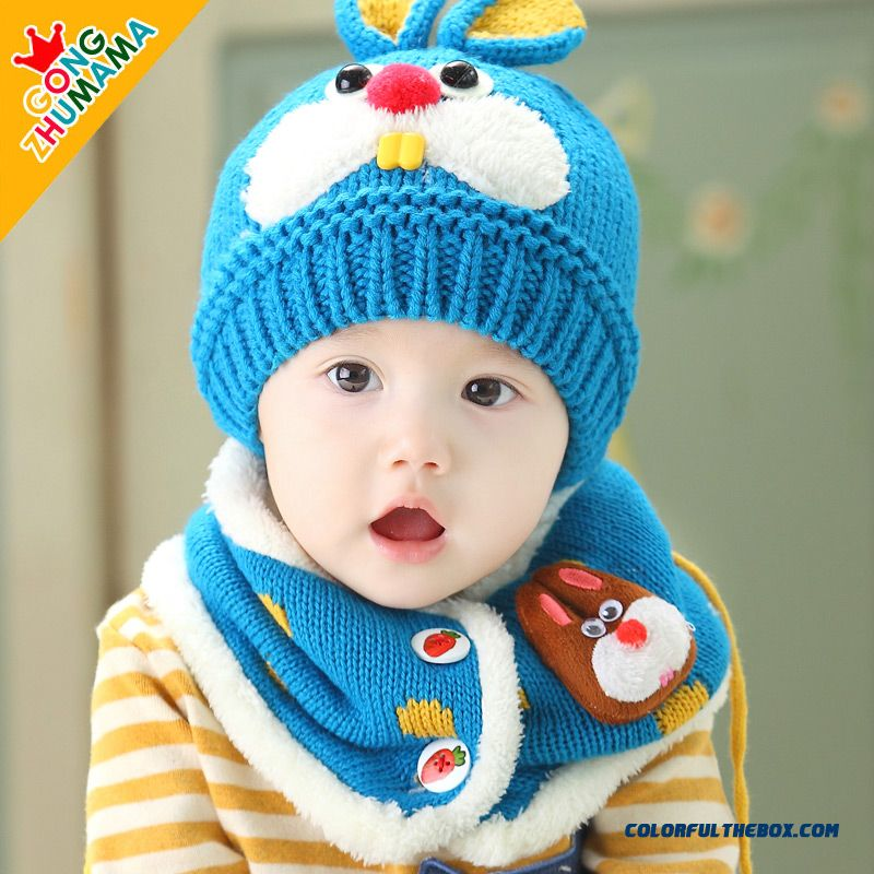 Cheap Unisex Baby Infant 6-48 Months Hat Scarves Two-piece Of Ultra ... dcc580a692b5