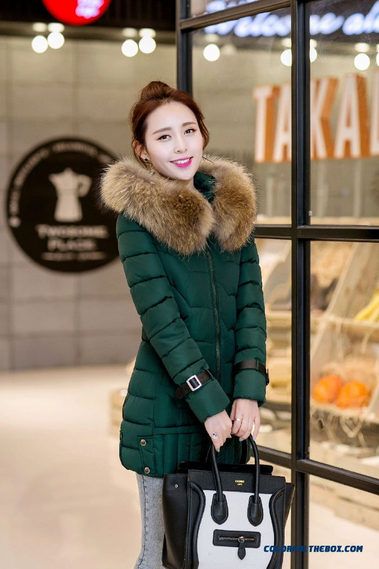 Vogue Winter New 2015 Female Ovo Collar Korean Version Thin Thick Warm Coat