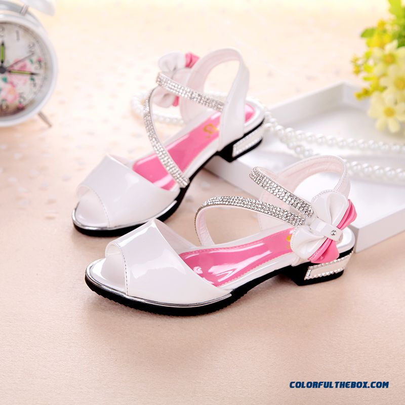 Wholesale Low Price High Quality Kids Shies White Student Shoes Princess Shoes Authentic Girls Sandals