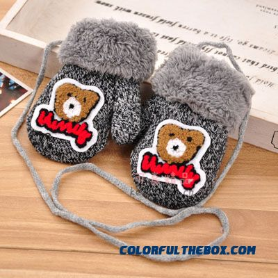 Winter Mittens 0-1-2 Years Old Baby Boys And Girls Thick Warm Infant Child With Lanyard Full Finger Gloves Accessories