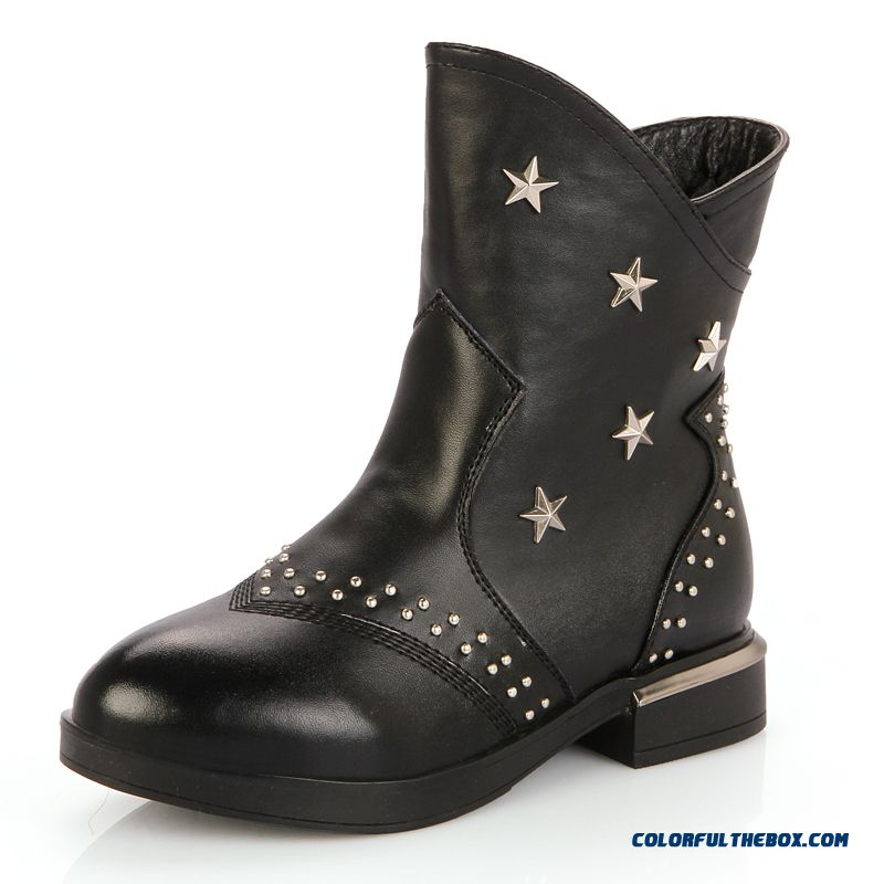 cheap winter new big leather boots child boots