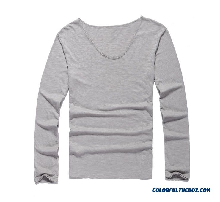 Men/'s Slim Fit Long Sleeve Casual T-shirts Workout Tee Shirt Solid Pullover Tops