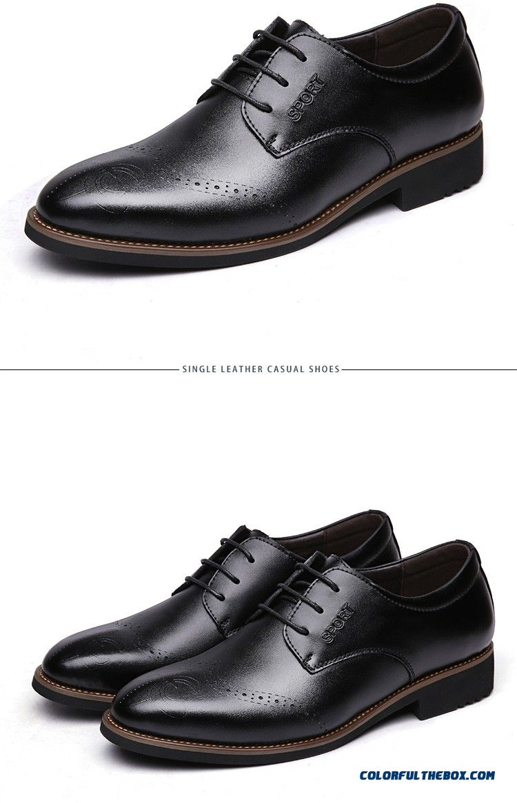 Cheap 2016 Discount Genuine Leather Men Shoes Zapatos