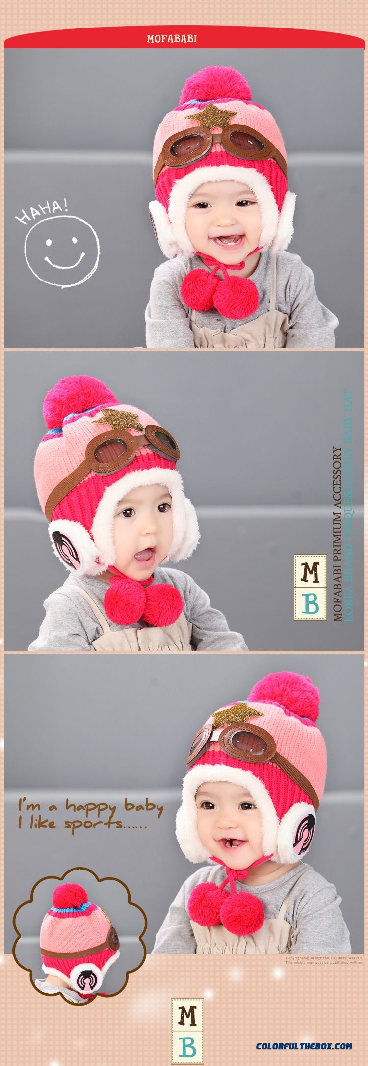 ... Adorkable Lovely Aviator Glasses Wool Hat Fall Winter Infants Kids Hats  Accessories For Girls - detail c00d7b58aa76