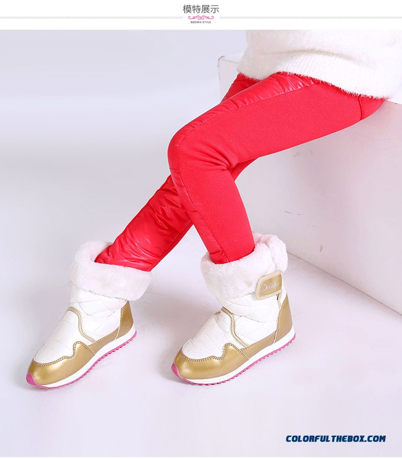 All-match Kids Thin Slim Pants Winter Long Pants Girls Down Pants - detail images