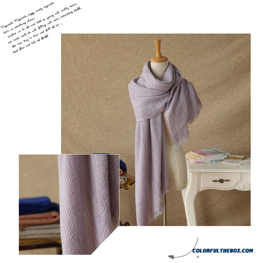 Autumn And Winter Soft Knit Wool Scarves Ice Cream Solid Color Color Scarves Women Acautumn And Winter Soft Knit Wool Scarves Ice Cream Solid Color Color Scarves Women Accessoriescessories - detail images