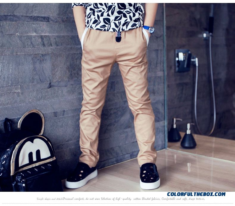 Autumn Sports Long Pants Thin Solid Color Designed Specifically For Boys Kids - detail images