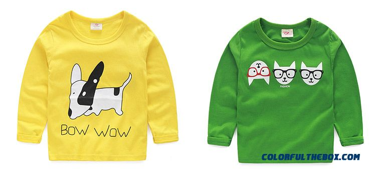 Baby Boys And Girls Kids Long-sleeved Comfortable T-shirt Bottoming Cheap Wholesale - detail images