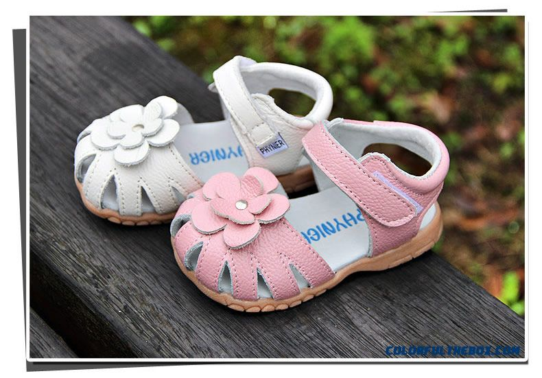 cheap baby girls sandals leather flowers sandals 1