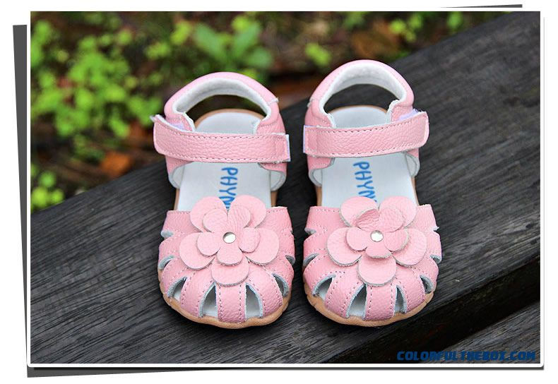 Cheap Baby Girls Sandals Leather Flowers Sandals 1 5 Years