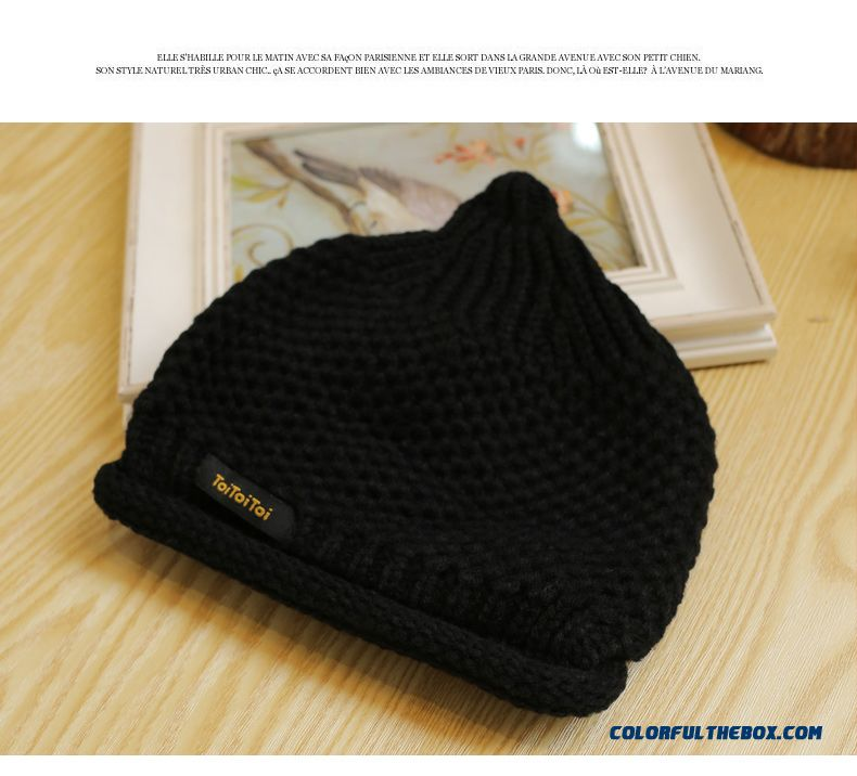 a9445a570b4 ... Baby Pacifiers Cap Unisex Boys And Girls New Warm Wool Cap Free Size  Kids  Knit ...