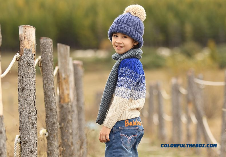 Balabala Kids Clothing Boy Sweater 2016 New Pullover Round Neck Sweater Coat Thicker Kids' Clothing - detail images