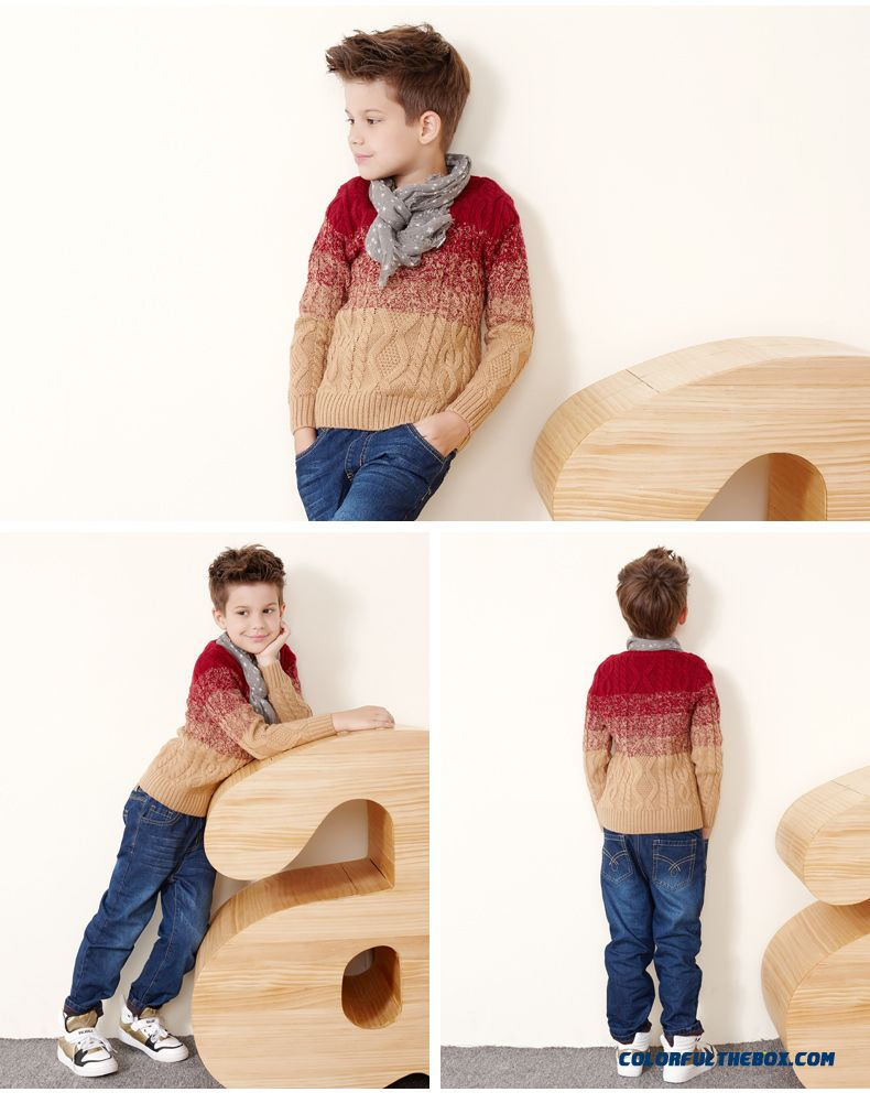 Cheap Boy Twist Wool Winter New Sweater Knitted Clothing