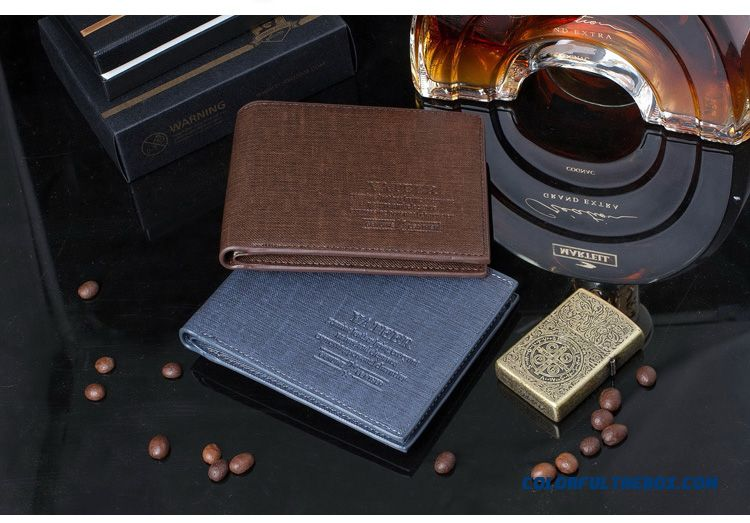 Brand Design Casual Short Wallets Bags Vertical Wallets Thin Vertion For Men - detail images