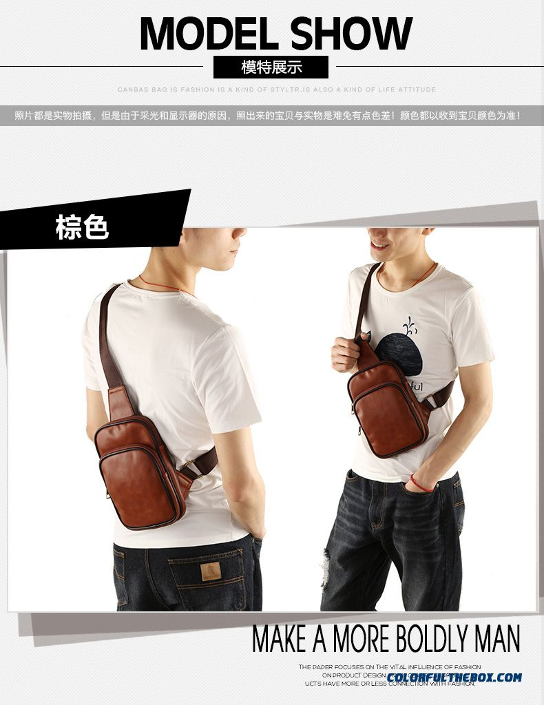 Brief Design Pu Crossbody Man Bag Chest Bag Outdoor Sports - detail images  ... 871b3f15d25ac