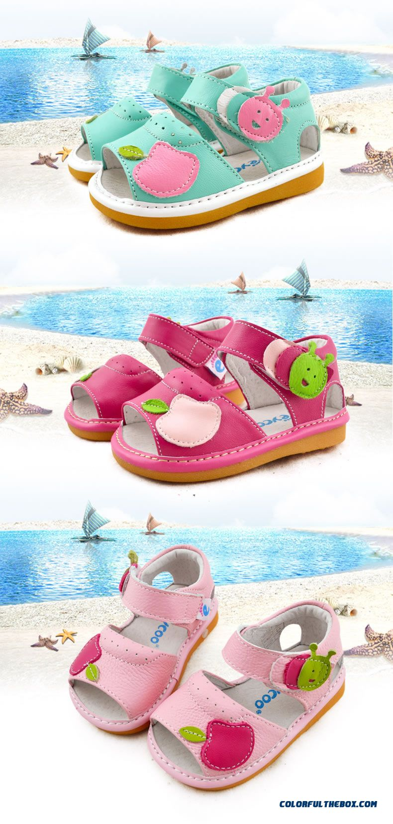 Candy-colored Girl Baby Shoes Princess Summer Sandals Breathable Kids Shoes - detail images