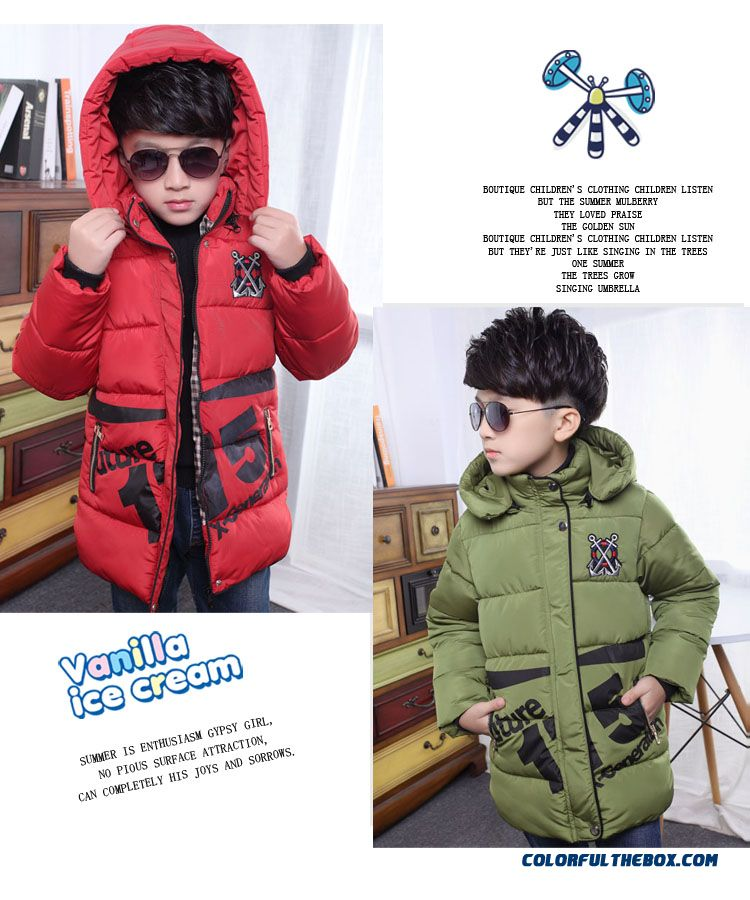 Children's Clothing Boys Winter Cotton - Padded Good Quality Comforable Padded Jacket - detail images