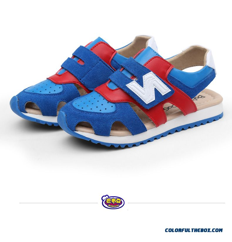 Children's Sandals Leather Sandals Boys Sandals Hollow Kids Shoes Summer - detail images