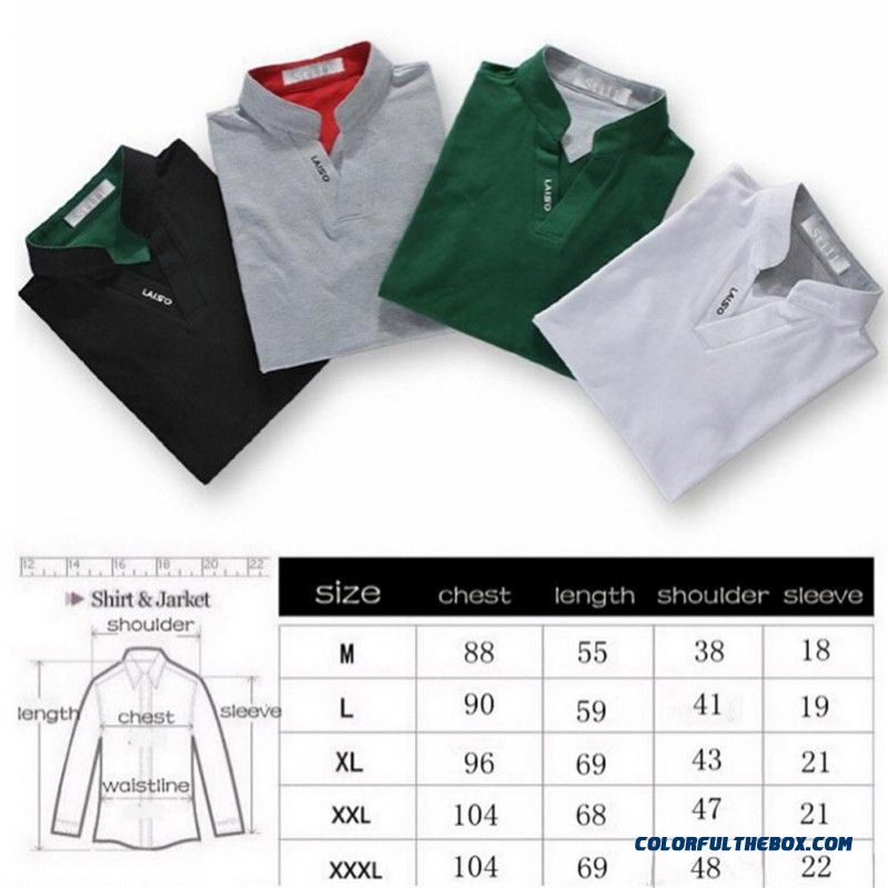 Classic Solid Color Men Lapel Polo Shirt Short Sleeve Tee Tops T-shirt M-3xl New - detail images