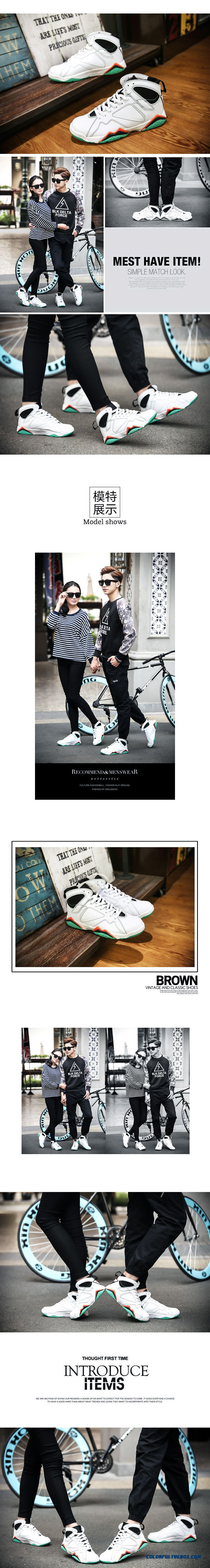Couple's Shoes Comfortable And Breathable Men Basketball Shoes - detail images