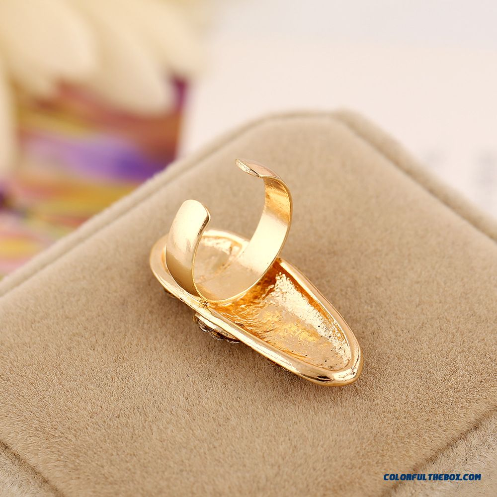 Creative Geometry Stitching Nail Ring Designed Specifically For Elegant Women Jewelry - detail images