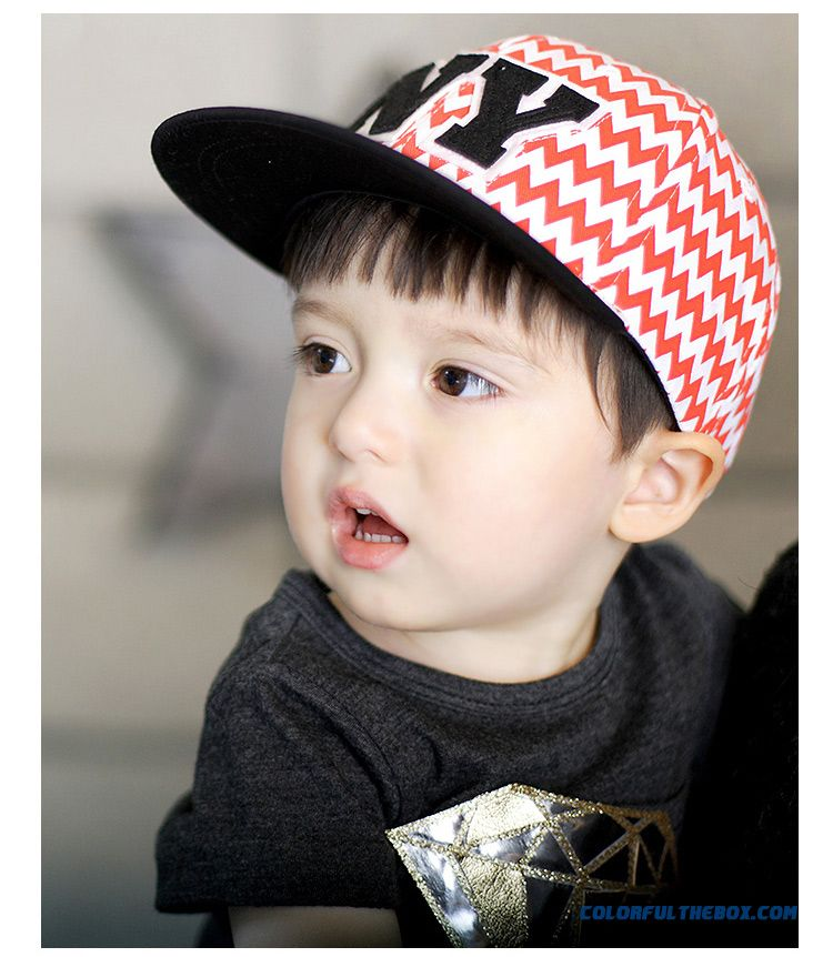 e091628cfe2 ... Kids Peaked Cap. Crown Flat Brimmed Hat Hip Hop Summer Cotton S Baby  Boys