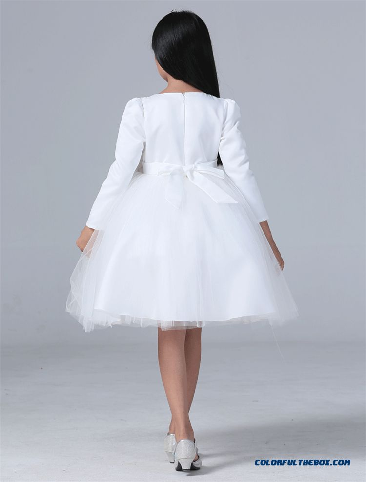 cheap dress performance dress pompon white wedding skirt older kids for girls sale online