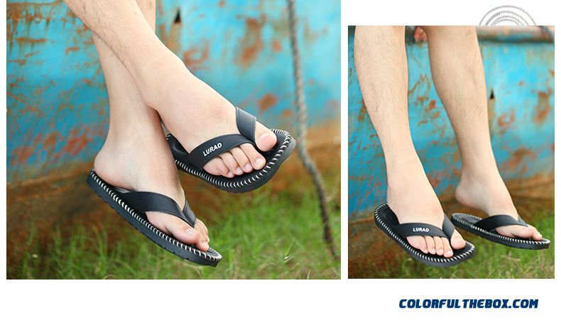 557cd93ffa31 ... England Style Men s Slippers Wear Resistant Antiskid Beach Shoes Tide -  detail images ...