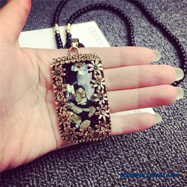 Ethnic Style Fine Jewelry Beaded Bohemia Long Sweater Chain Necklace Women - detail images